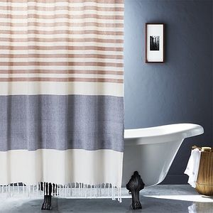 CB2 Karla Tassel Shower Curtain